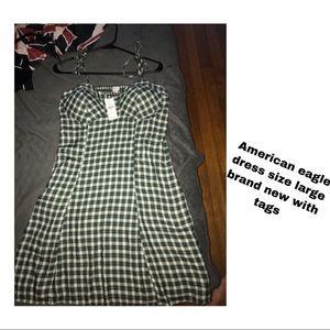 Plaid American eagle dress with tags on